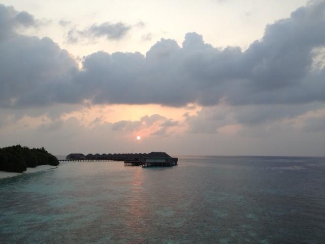 Sunset at Dusit Thani Maldives