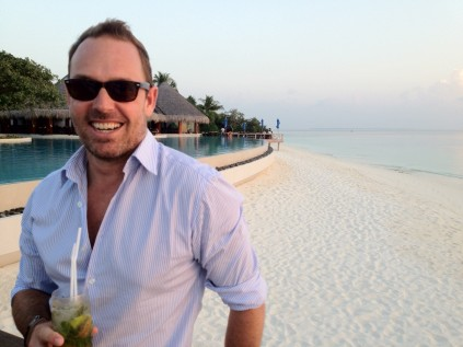 Sunset drinks on Mudhdhoo -Dusit Thani