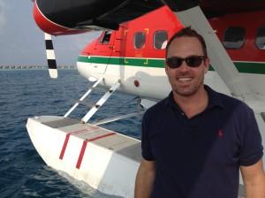 Seaplane arrival Dusit Thani Maldives