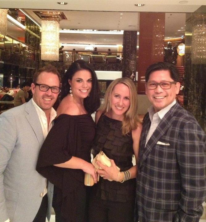 Brent, Carolyn, Chrissie & Albert Pre Dinner at Man Wah - Hong Kong