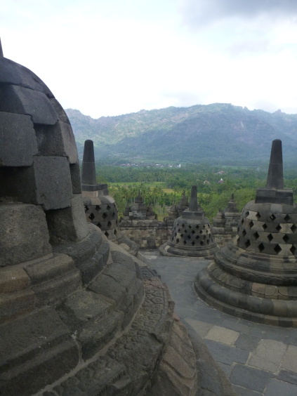 Borobudur - Amanjiwo in the distance