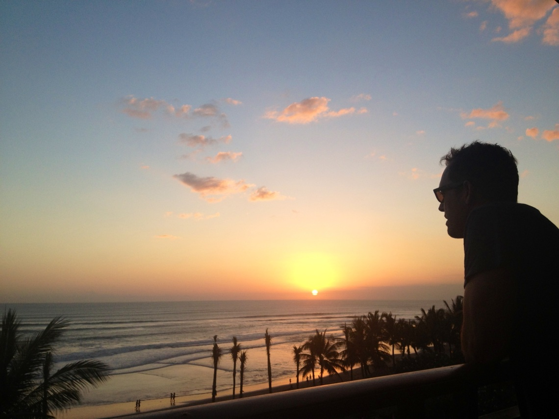 Sunset at The legian