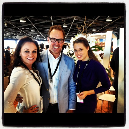 Brent with Anna from the Dolder Grand & Katy from The Greenwich Hotel NYC