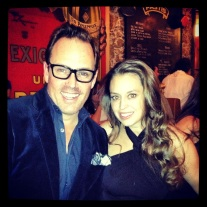 Brent with the delicious Katy Horne form The Greewich Hotel NYC