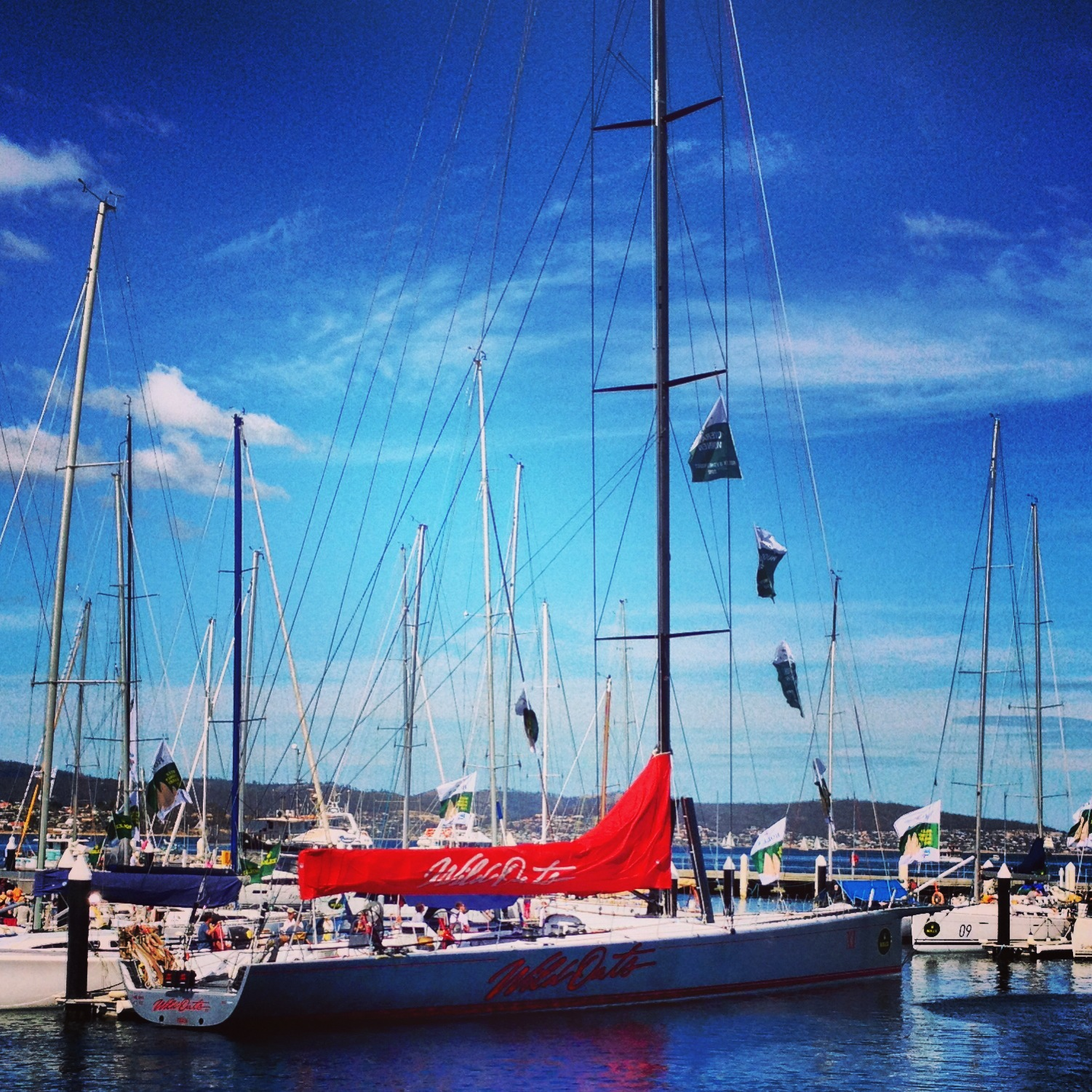 Wild Oats XI in Hobart Harbour