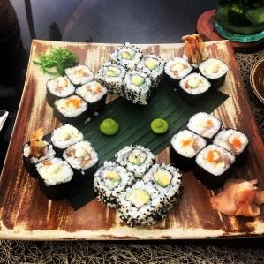 Poolside sushi at The Beach Bar