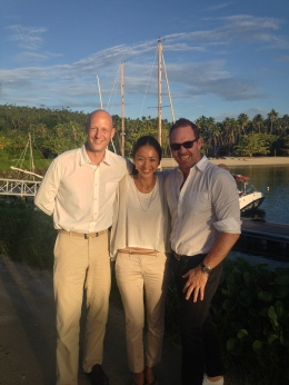 Brent with General Manager David Stepetic and his gorgeous wife Risako