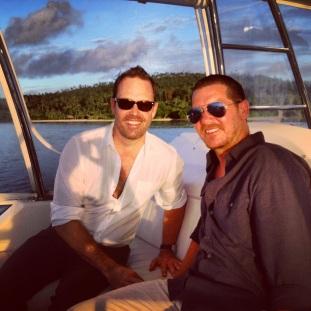 With Dan - Sunset cruise Laucala Island