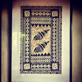 Traditional Tapa detail in the Peninsula Villa