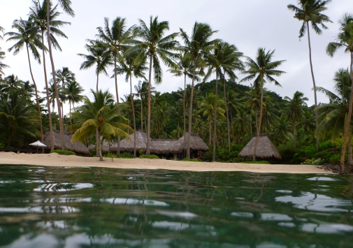 Villa Kalokalo as seen from the reef!