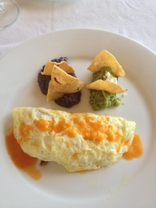 Omelette Mexican style at Esencia