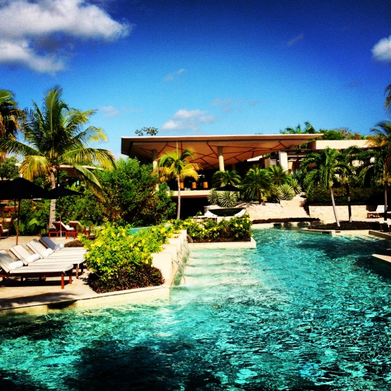 Poolside situation, Rosewood Mayakoba