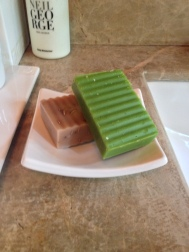 Hand cut soaps at Villa check -in