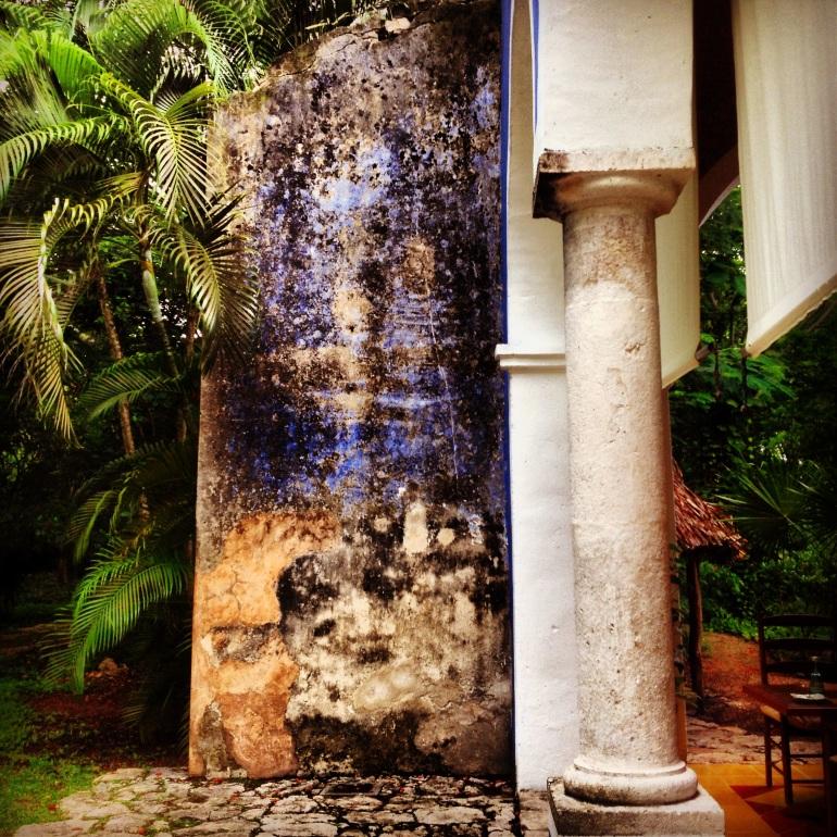 Original walls at Hacienda San Jose