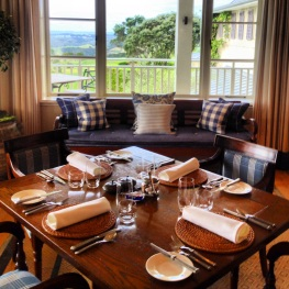 Dining room at Kauri Cliffs