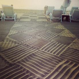 Basket weave raked beach