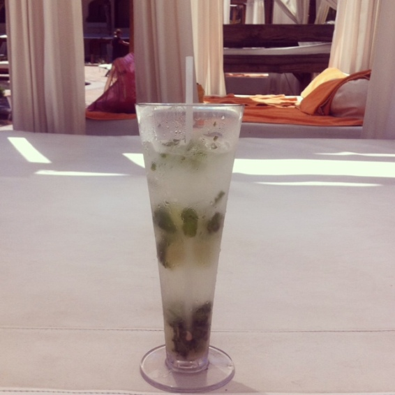 Heavily garnished Mojito