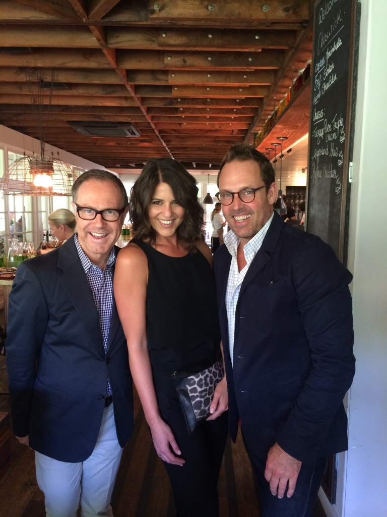 Craig Markham , Narell Devine and Brent Wallace at Chiswick Restaurant