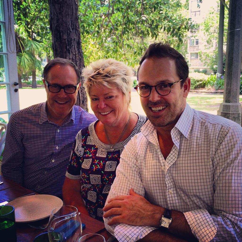 Craig Markham, Carol Morgan and Brent Wallace at Chiswick Restaurant