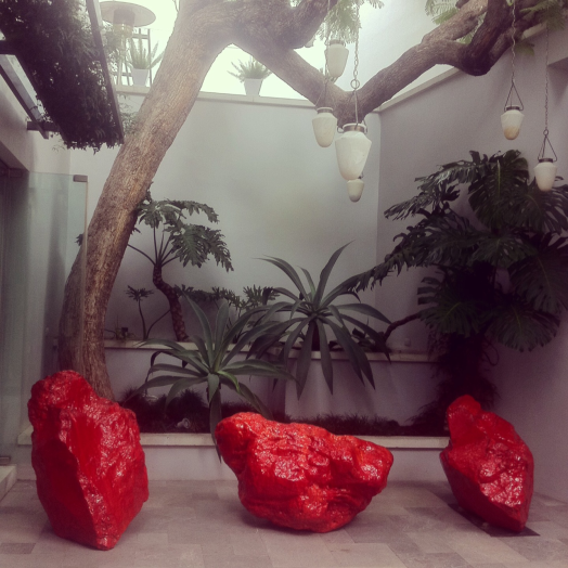 Bosco Sodi Red Installation