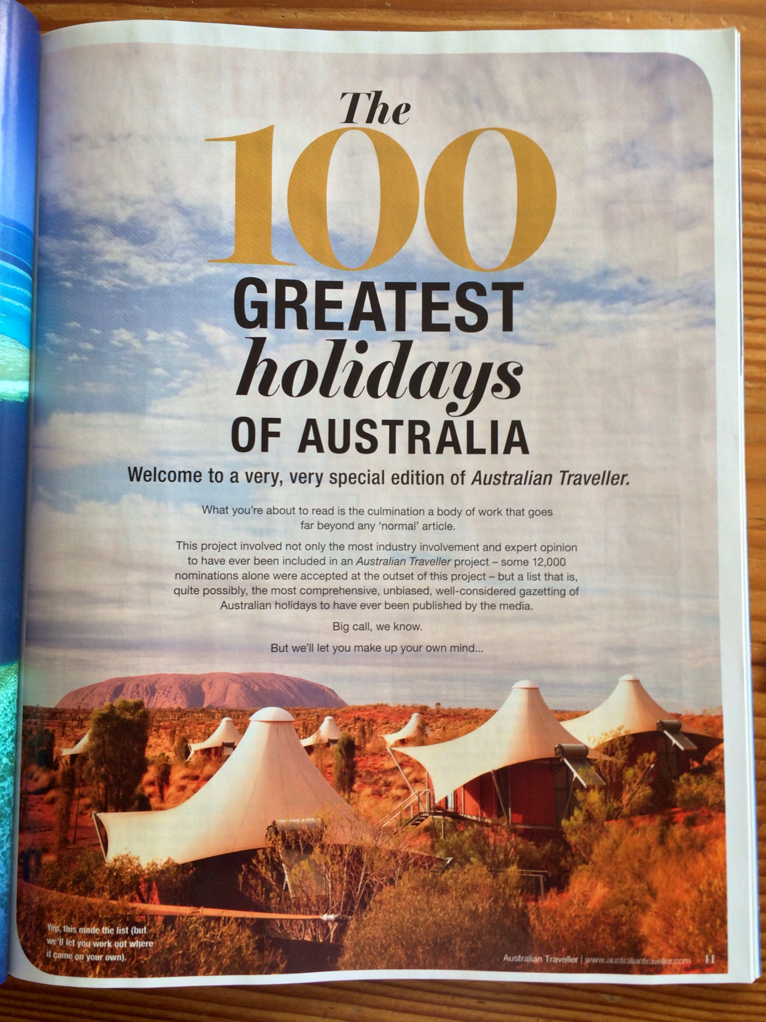 100 Greatest Holidays of Australia