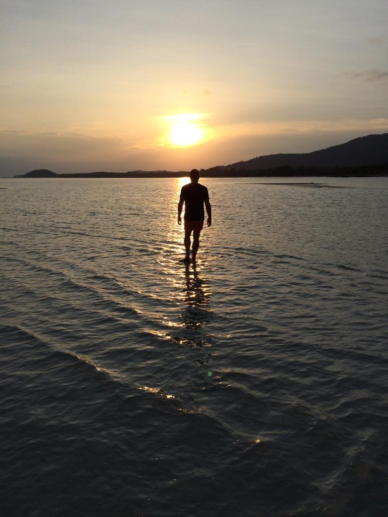 Walking on water at Kamalaya