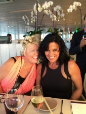 Suzanne and Carol at Firmdale dinner Juvia