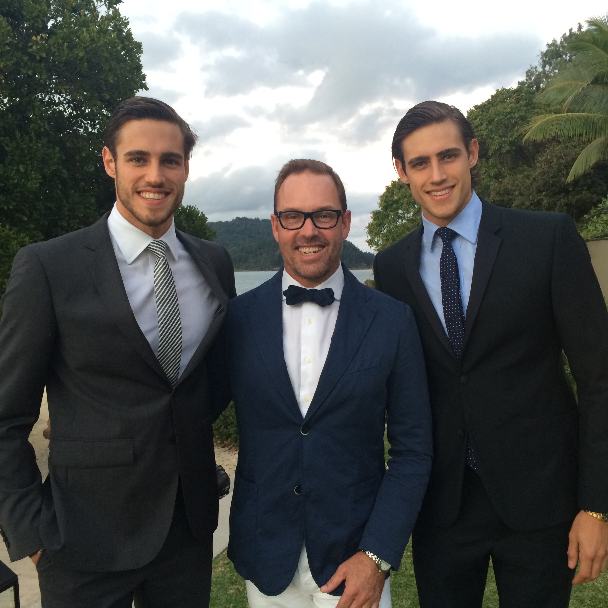 Brent with the handsome Stenmark twins