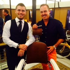 With my barber Pierpaolo