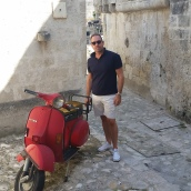 Brent and a bike - Matera