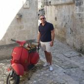 Brent and a bike - Matera