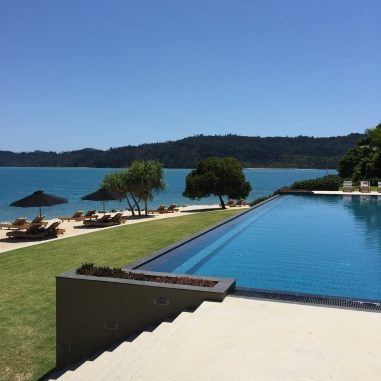 Poolside at qualia