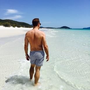Brent on Whitehaven Beach