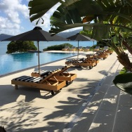 Poolside at qualia - Hamilton Island