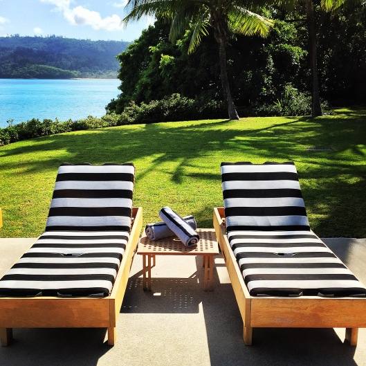 Room for two, poolside at qualia