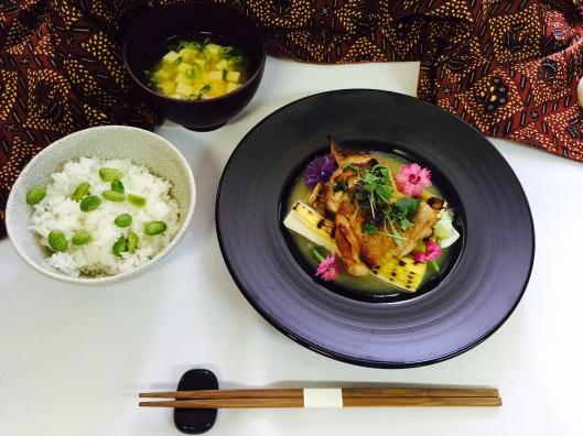 First Class Dining Garuda Indonesia