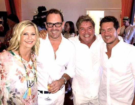 Olivia Newton-John, Brent , Gregg Cave and Daniel Ingram