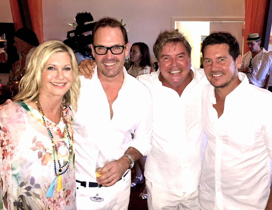 Olivia Newton-John, Brent , Gregg Cave and Daniel Ingram