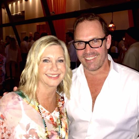 Olivia Newton-John with Brent