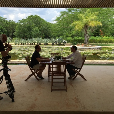 Brent interviewing Roberto Solis